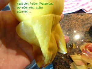 frische Pfirsiche häuten ... wenn man die Haut nicht mag - Tip