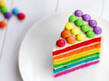 Eine Torte bunt wie ein Regenbogen - Tip