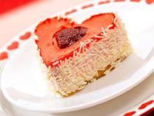 Kuchen in einer Herzbackform - Tip