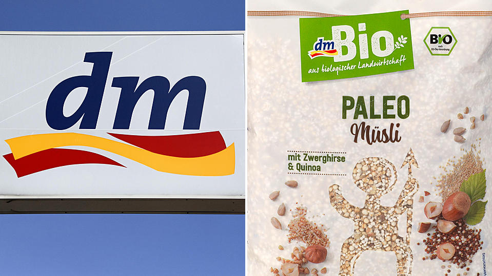 """Lebensmittelrückruf von """"dmBio Paleo Müsli""""."""
