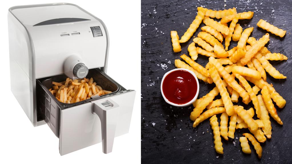 Heißluftfritteusen sollen Fett sparen beim frittieren.