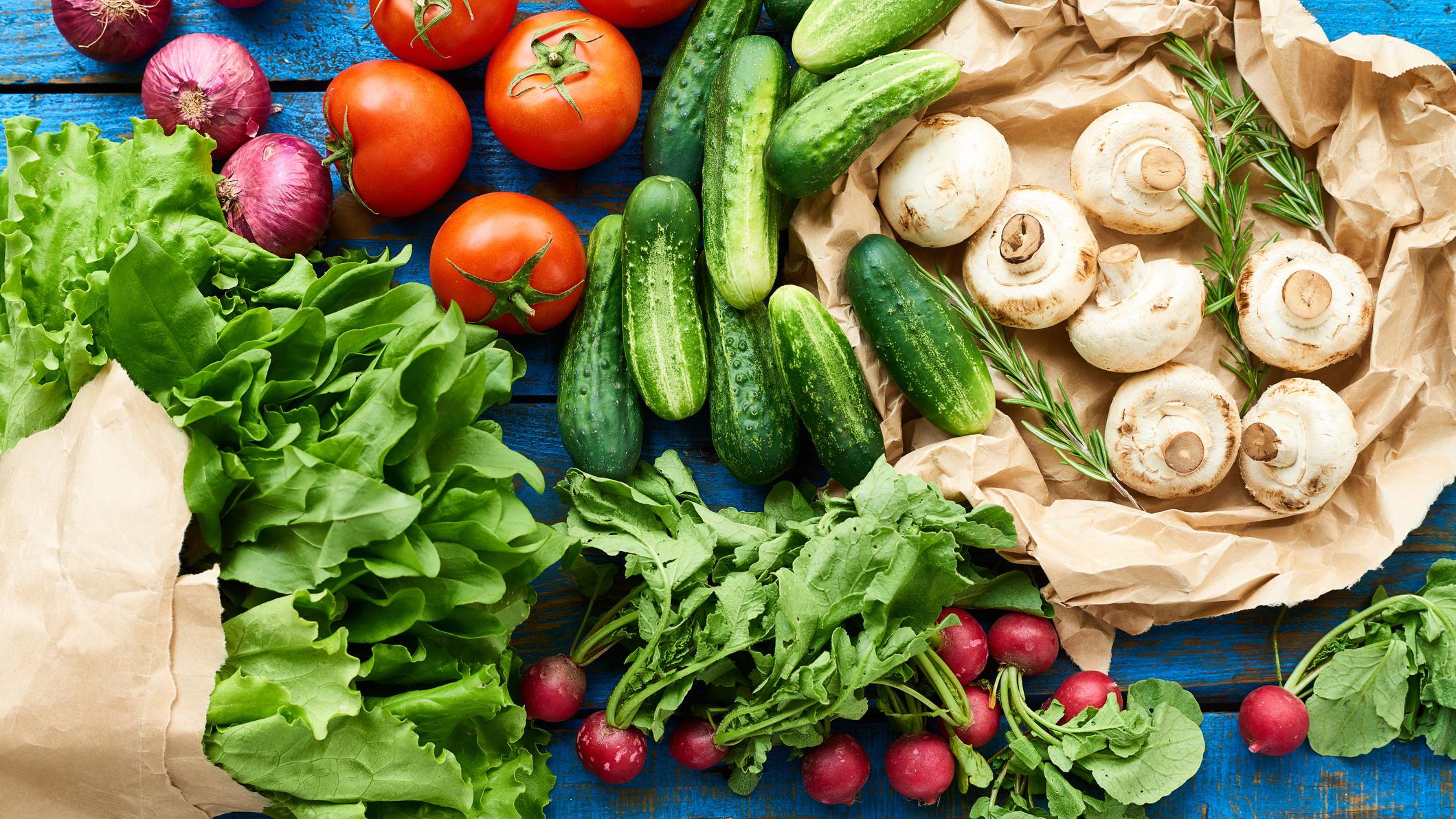 August ist DIE Zeit für Salat, Radieschen, Champignons & Co.
