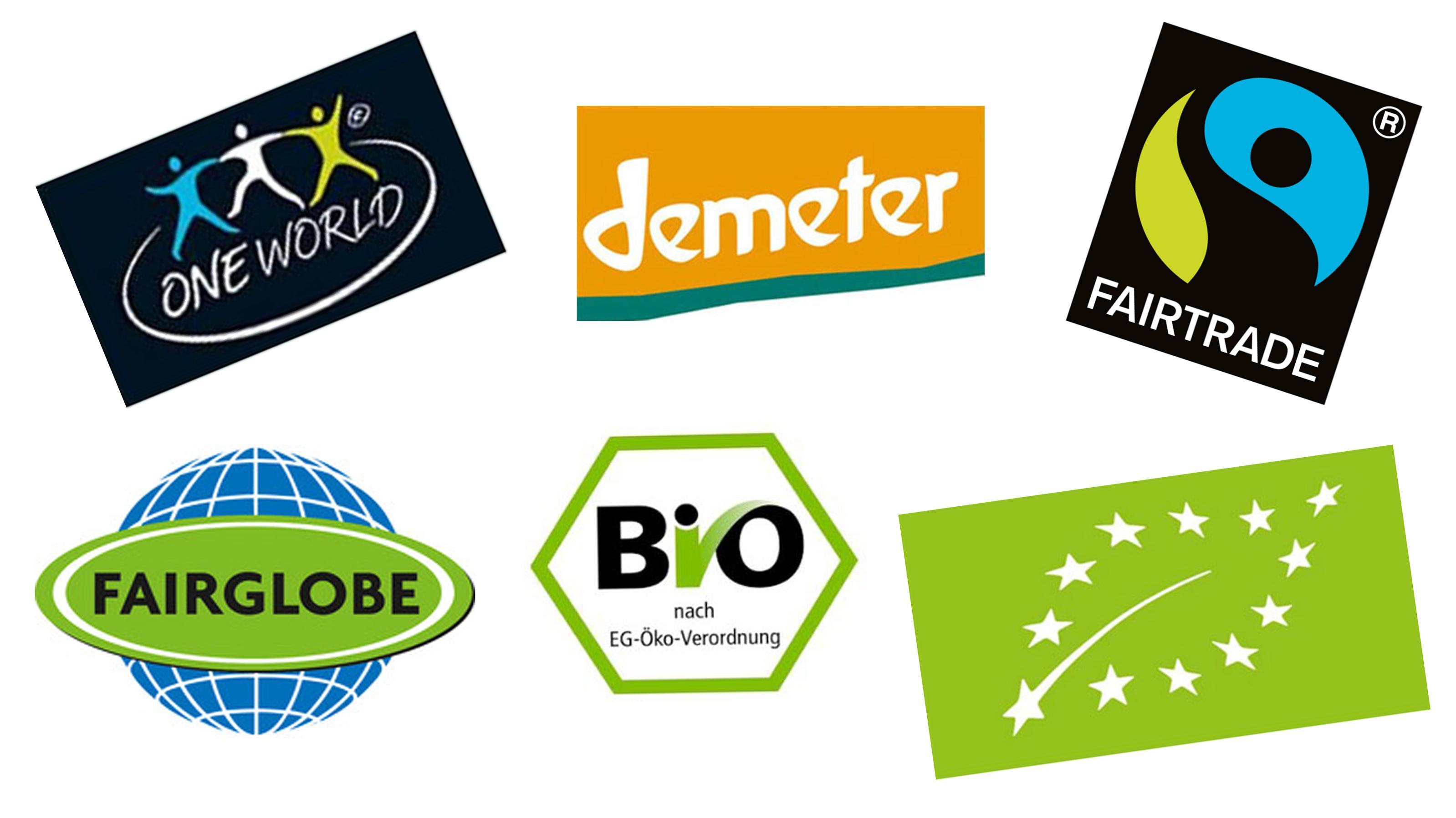 Bio- und Fairtrade-Siegel