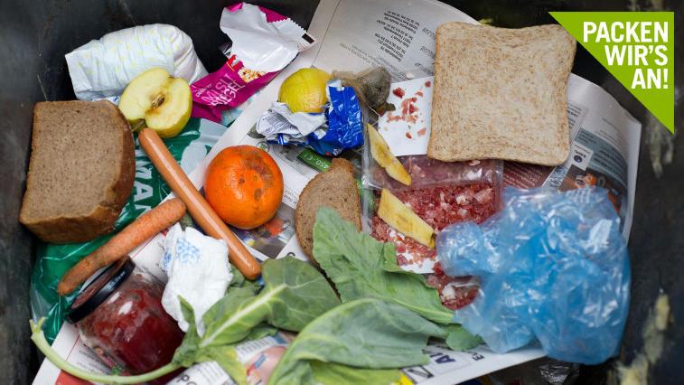 Viele Lebensmittel landen im Müll.