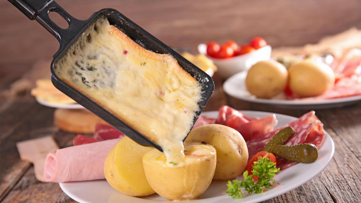 Raclette-Pfännchen mit Käse