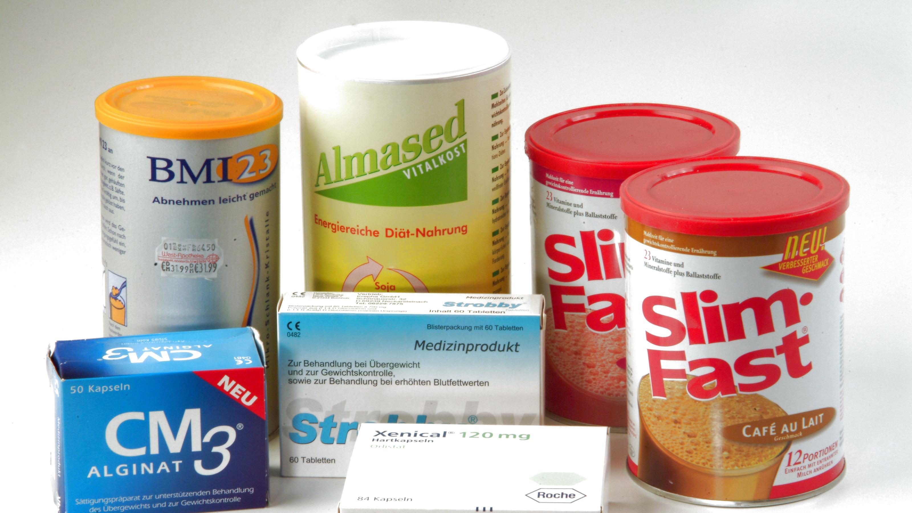 Medikamente und Mittel zur Gewichtsreduktion. Aufnahme vom 7.11.2002. Eine grosse Anzahl Medikamente für die Behandlung aller häufigen Erkrankungen gibt es in grosser Zahl auf dem deutschen Markt. Für Ärzte und Pharmakologen sind alle Medikamente in