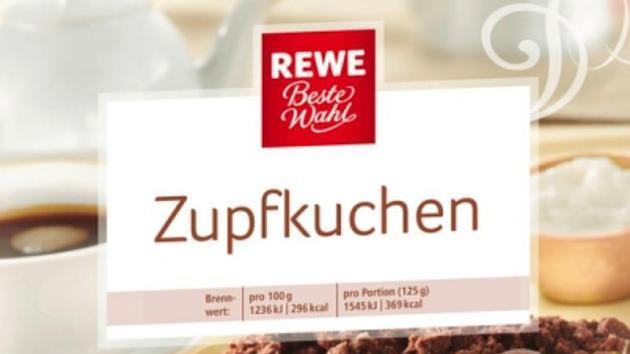 Produktbild zurückgerufener Zupfkuchen von Rewe