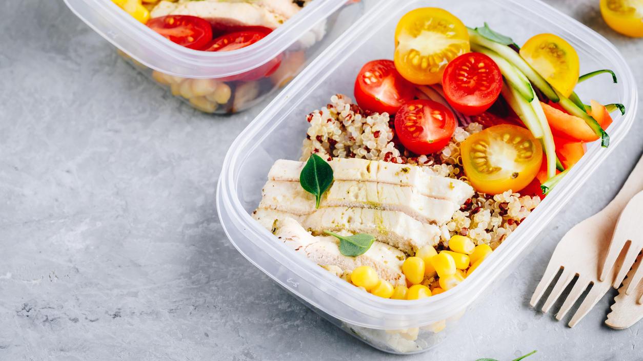 Meal-Prep-Box aus Plastik