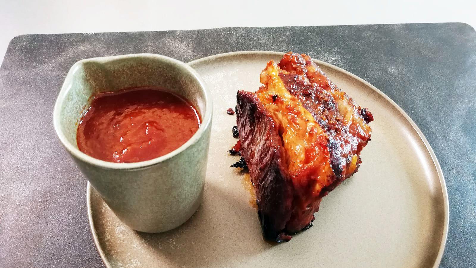 Rinderrippchen mit Barbecue-Sauce