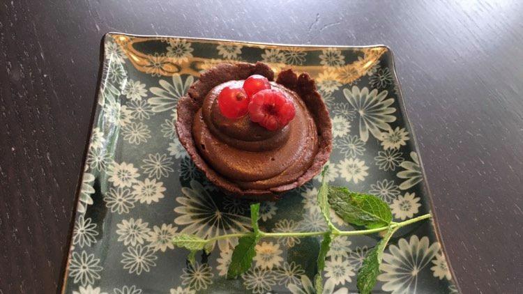 Glutenfreies Schokoladentörtchen nach dem Rezept von Stefanie Reeb