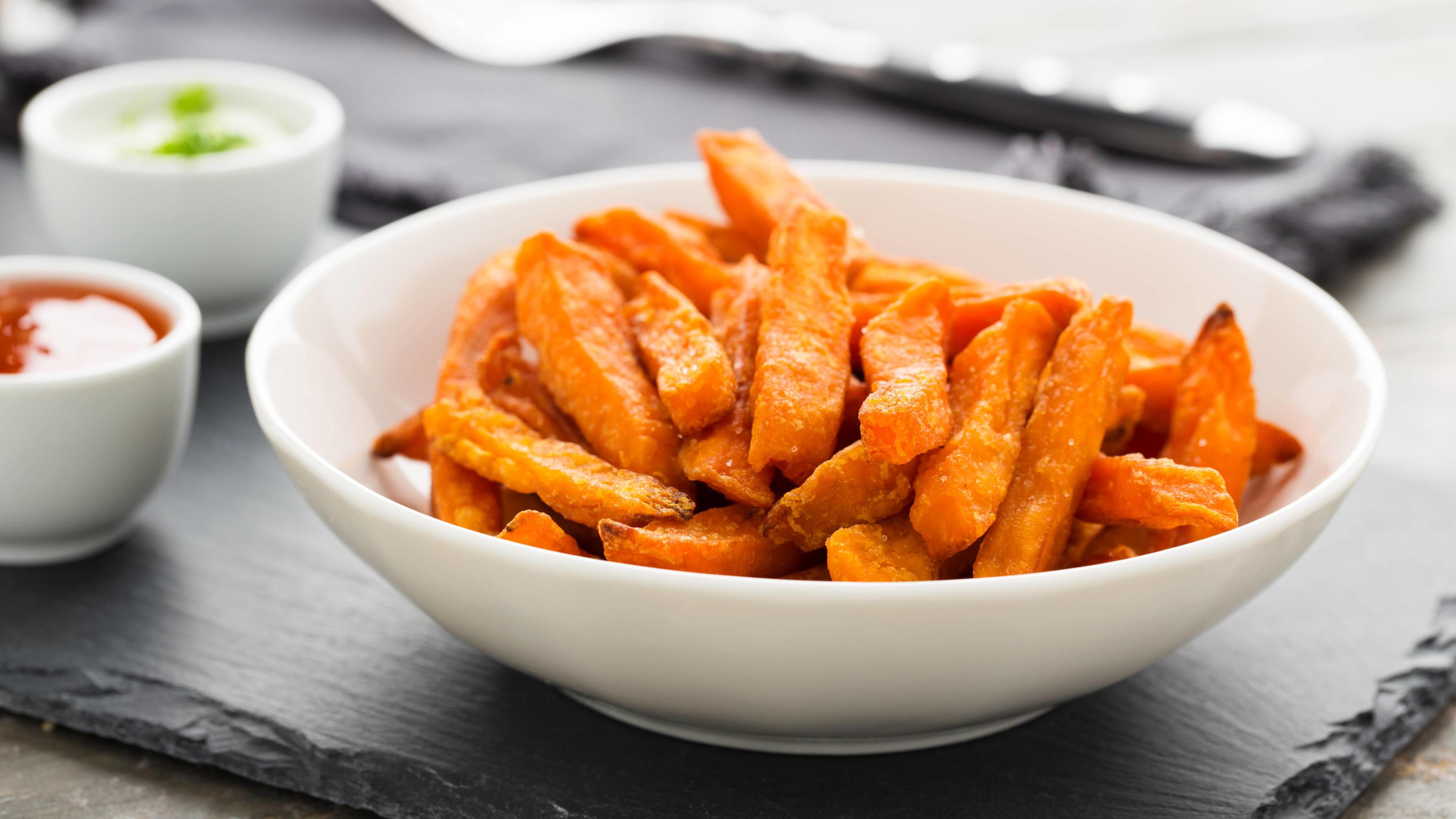 süßkartoffel pommes *** sweet potato fries vvy-fov