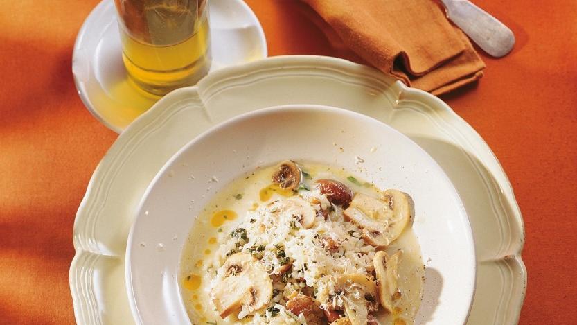 Das perfekte Herbstessen: Pilz-Kastanien-Risotto