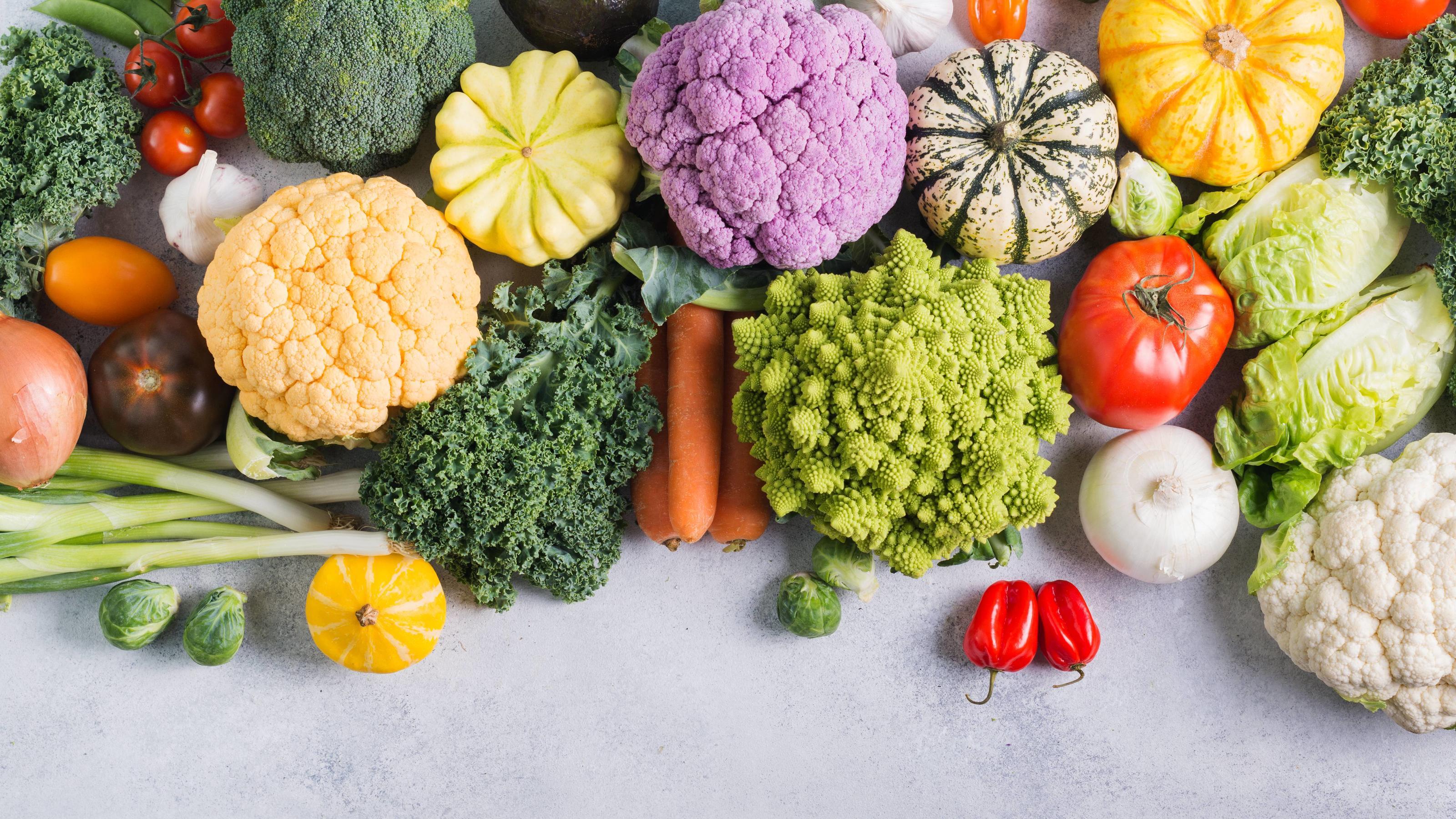 Kohl Gemüse der Saison
