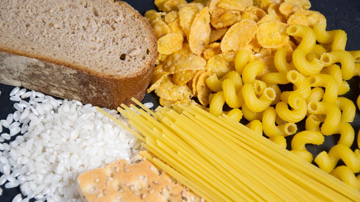 Brot, Nudeln und Reis