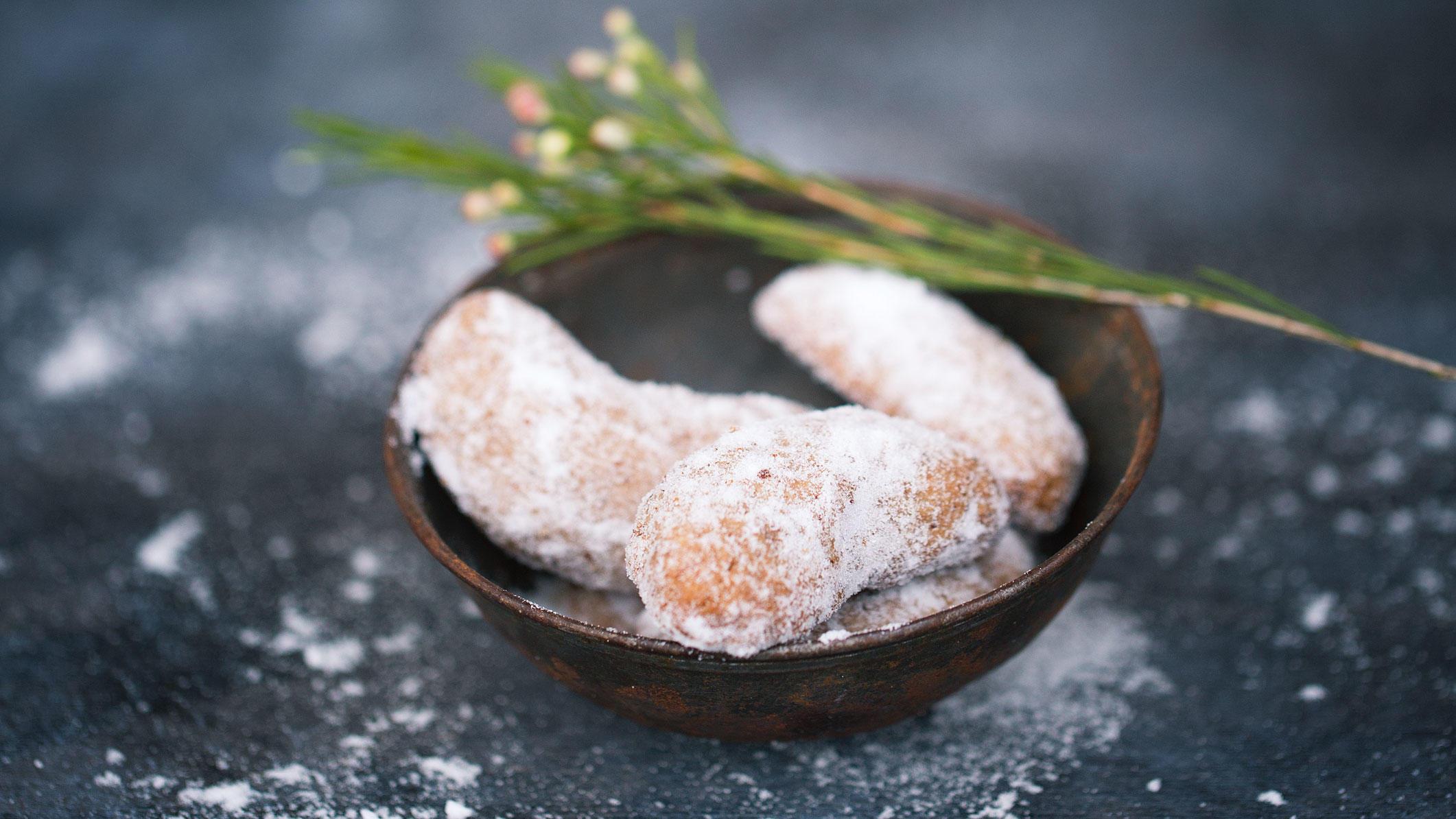 Vanillekipferl nach dem Rezept von Stefanie Reeb - ohne weißen Zucker