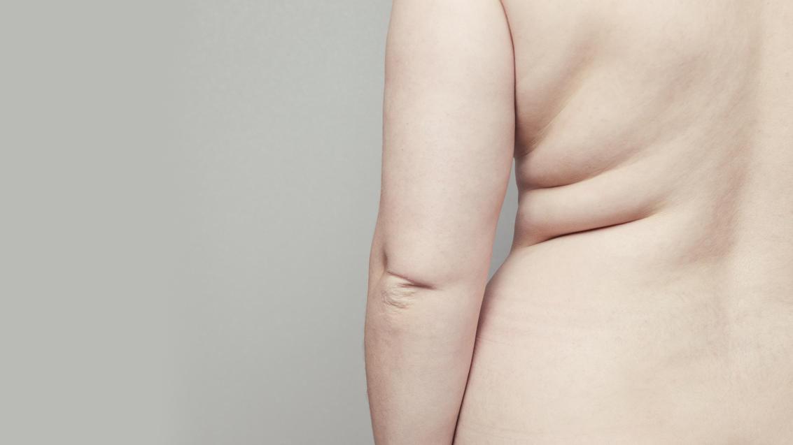 Rücken und Hüfte einer Frau