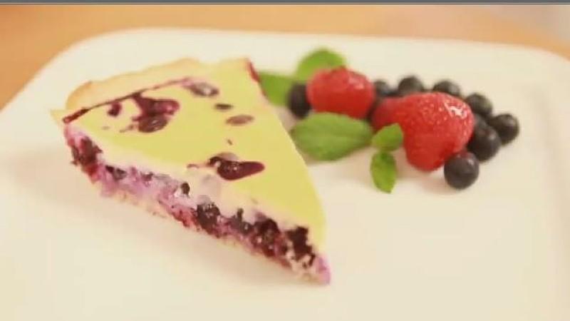Rezept für Heidelbeer-Zitronen-Quarkkuchen