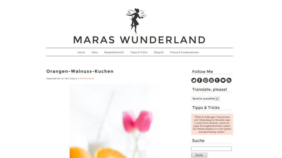 "Kochblog der Woche: ""Maras Wunderland"""