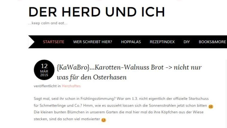 """Kochblog der Woche: """"Der Herd und ich"""""""