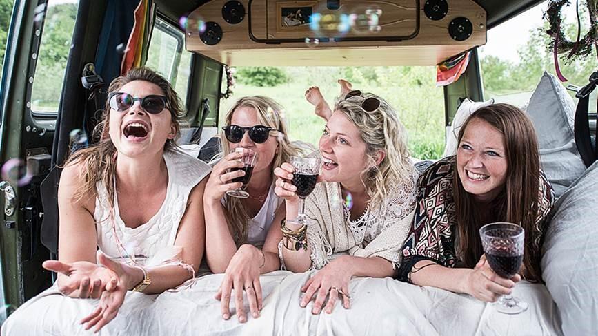 Mädelsabend mit passendem Wein