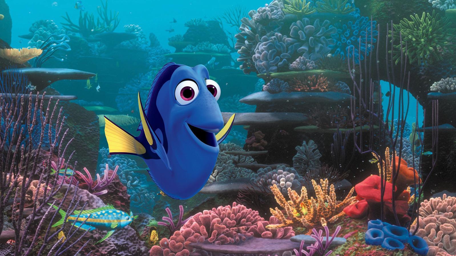 Der Fisch Dorie in einer Szene des Films 'Findet Dorie' Foto: Disney/Pixar/dpa