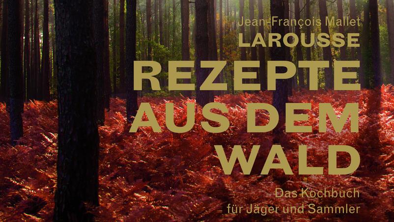 Das Cover des festgebundenen Kochbuchs: 'Rezepte aus dem Wald'.