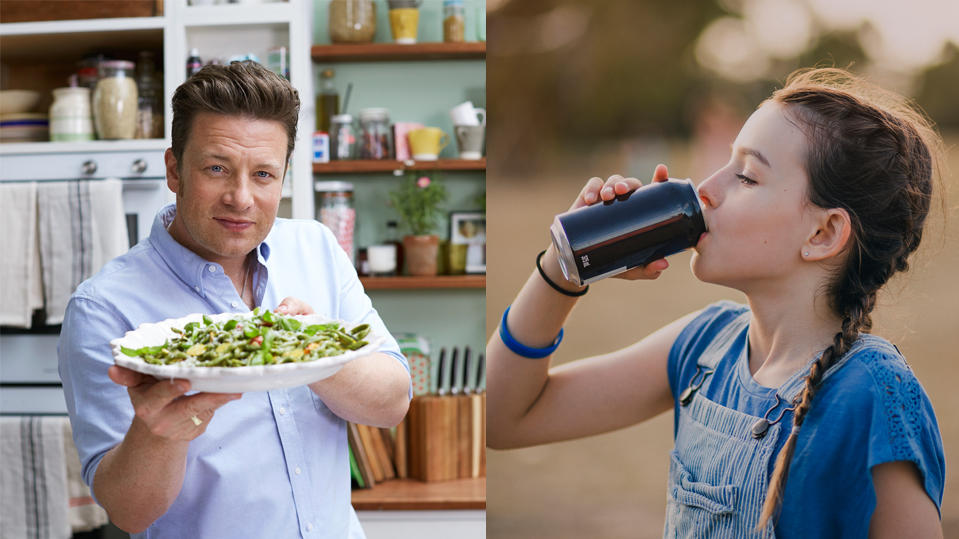Seit Jahren engagiert sich der britische Koch Jamie Oliver für eine gesunde Ernährung für Kinder.