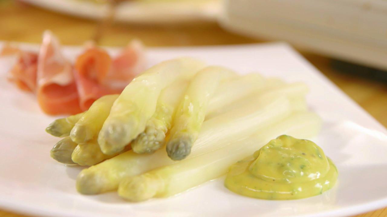 Spargel mit Bärlauch-Mayonnaise - Rezept mit Video