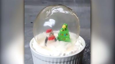 Rezept: Dessert in der Schneekugel