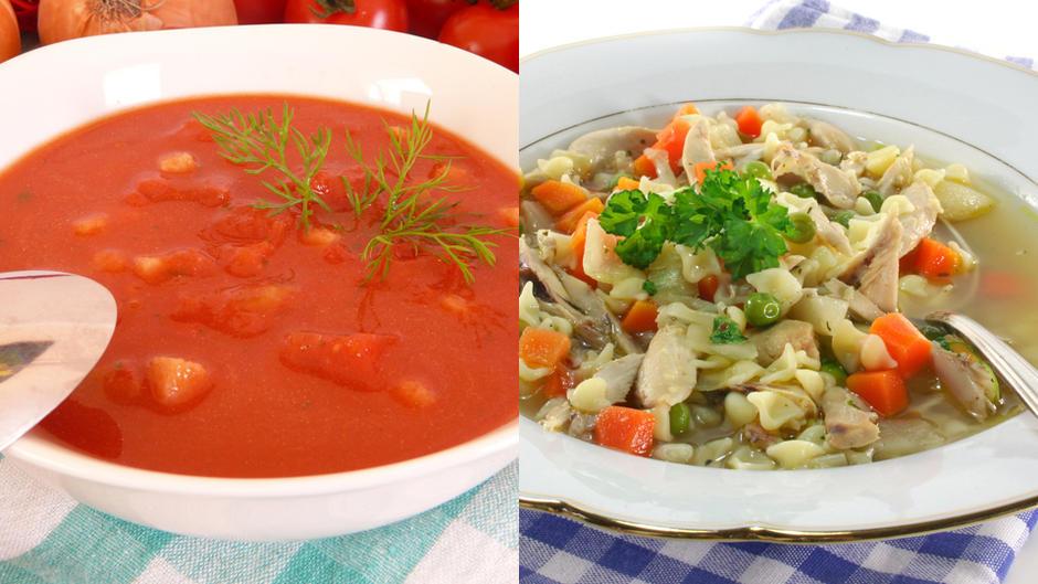 Tomaten- und Hühnersuppe: So kochen Sie sie selbst