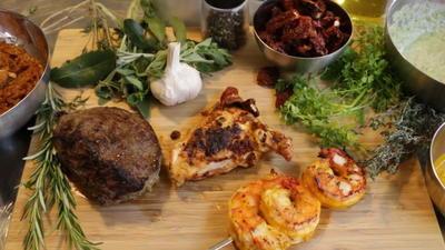 Rezept: Grill-Marinade für Huhn mit Whisky, getrockneten Tomaten und Basilikum