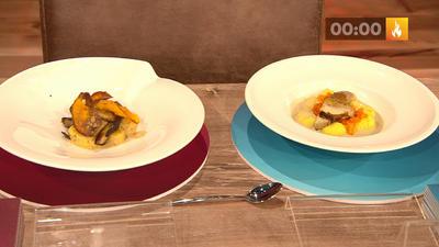 Rezept: Kartoffelgnocchi mit Steinpilzen und Hokkaido (Damian Hardung)