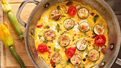 Rezept: Herzhafte Pfannkuchen mit Gemüse