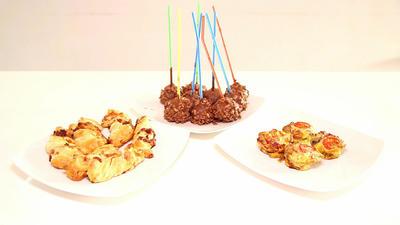 Rezept: Zitronen-Krispie-Cakepops, Blätterteig-Stangen und Eiermuffins