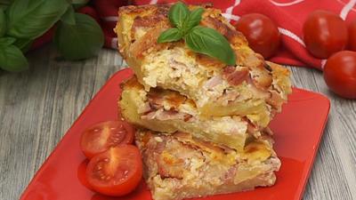Rezept: Zwiebelkuchen vom Blech