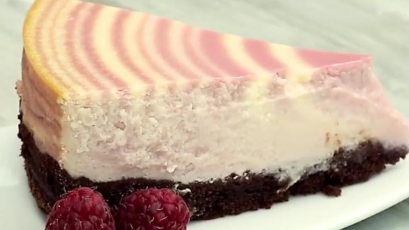 Zebra Kuchen Mit Himbeeren Rezept Mit Video Kochbar De