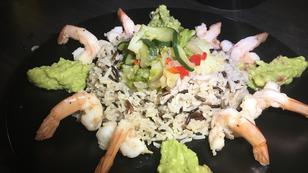 #Ernährung Rezept 4: Garnelen mit Gemüse & Reis