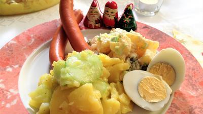 Rezept: Bayerischer und rheinischer Kartoffelsalat