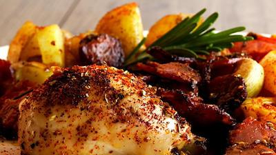 Rezept: Spanische Hühnchen- und Chorizo-Platte