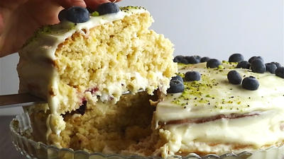 Rezept: Zitronen-Heidelbeer-Torte