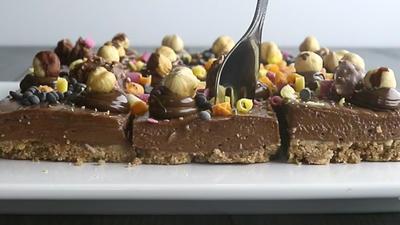 Rezept: Nutella Cheesecake Schnitten