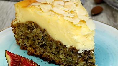 Rezept: Nuss - Pudding Kuchen