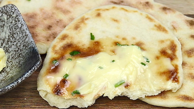 Schnelles Naan-Brot
