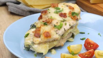 Rezept: Chicken Alfredo Lasagne