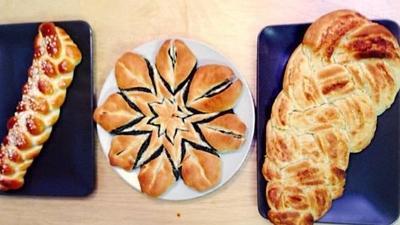 Rezept: Hefe-Zöpfe mit Mohn- und Marzipan-Füllung