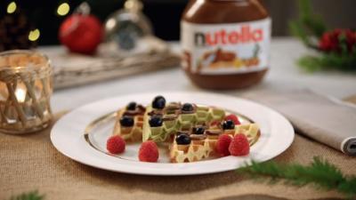 Rezept: Weihnachtswaffeln mit nutella