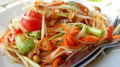 Rezept: Som Tam: Narumols Papaya-Salat