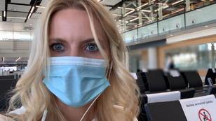 RTL-Reporterin im leeren Flughafen von Split